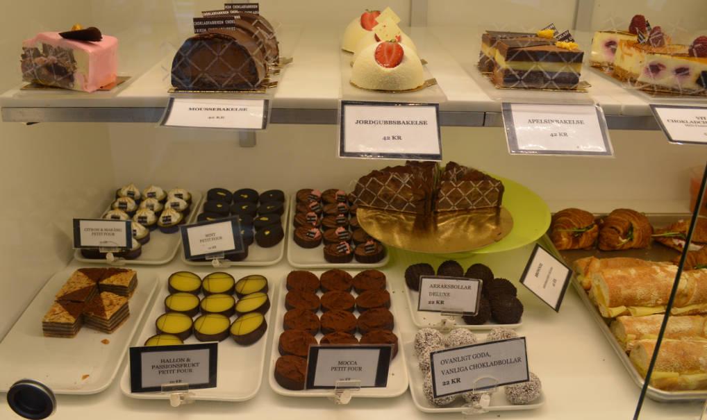 Chokladfabriken Kuchenauswahl