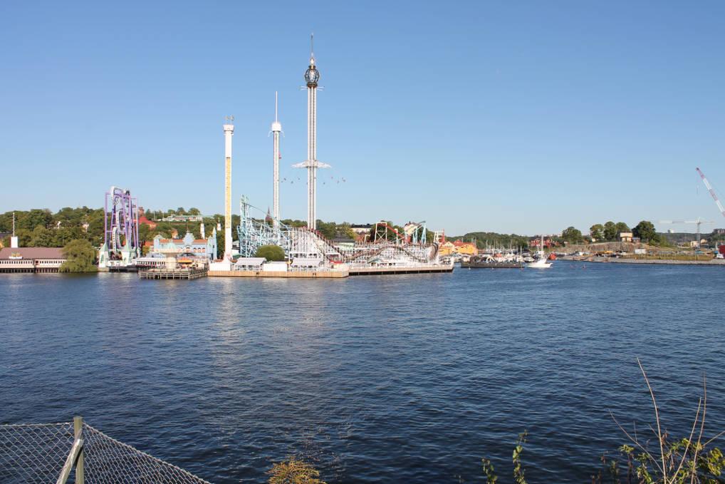 Gröna Lund vom Wasser aus